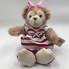 Disney Duffy bear plush Shellie May Red Stripe Dress 15cm Rare HKDL Hong Kong