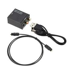 Optical Coaxial Toslink Digital to Analog Audio Converter Adapter RCA L/R CS NEW