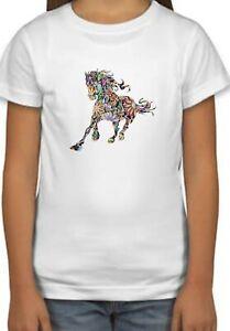 Colorful Art Horse Pony Design Holiday Kids Unisex Birthday Gift T-Shirt 111
