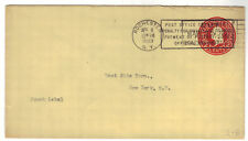 1943 Rochester NY U430 2c D 7 Stationery Entire Post Office Penalty Envelope RPO