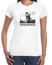 038 Lets Dance womens T-shirt chainsaw scary movie halloween horror gore 80s