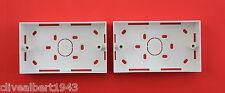 """2 X 2 Gang Caja de respaldo en Blanco 32mm de plástico ABS de profundidad """"NUEVO"""""""