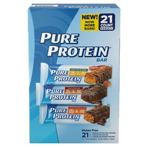 Pure Protein High Protein Bars, Variety Pack, (21 CT) Great Deal & Service!!