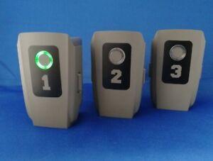 No's 1-3 DJI MAVIC 2 PRO ZOOM BATTERY STICKER SET | MULTIPLE COLOUR OPTIONS