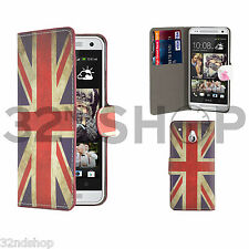 32nd Design Book PU Leather Wallet Case Cover for HTC 10 Screen Protector Union Jack