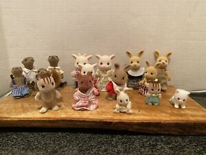 Lot of 16 Calico Critters Otters Squirrels Goats Bunny Mouse More Very Good Cond