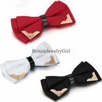 Tuxedo Bowtie Formal Wedding Party Solid Adjustable Bow Tie Necktie Pre Tie Men
