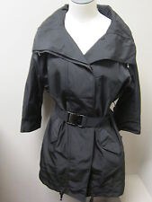 Kenneth Cole Women's Belted Anorak w/ 3/4 Sleeves Black NWT