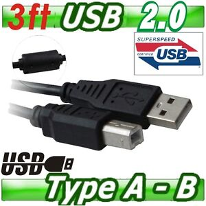3ft USB 2.0 Printer Cable AMBM Type B Male Scanner Cord for Amsung Brother HP