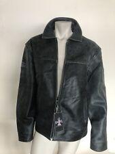License Evil Knievel Genuine Original Leather Jacket Sz 3XL New. Rare!