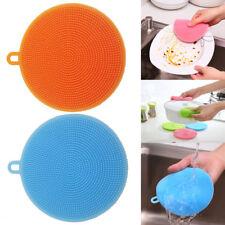 Multi-function Silicone Scrubber Sponge Brush Dish Washing Cleaning Kitchen Tool