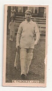 1928-29 Cricket Season W.D & H.O Wills E.Tyldesley Lancs  good/good plus