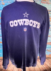 Reebok NFL Football Dallas Cowboys Navy Blue Sweater Medium Cotton