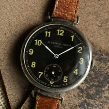 AUDEMARS FRERES EARLY UNUSUAL OVERSIZED 45MM TRENCH WATCH WW1 SWAN NECK MOVEMENT