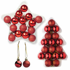 Adornos rojos para árbol de Navidad