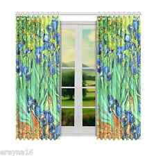"Irises Van Gogh Polyester Window Curtain 52"" x 84"" (132 cm x 213 cm)"