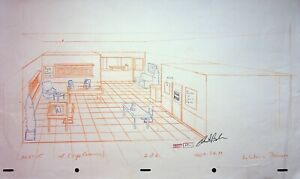 The Simpsons Production SIGNED CHRIS BOLDEN Hand Drawn EYE CARAMABA Praiseland B