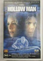 Hollow Man VHS 2000 Horror Paul Verhoeven Kevin Bacon 2001 TriStar Small Case