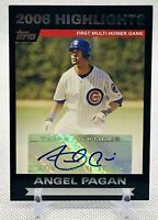 ANGEL PAGAN 2007 Topps Highlights Autographs #HA APA Chicago Cubs MLB