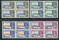 Seychelles 1935 Silver Jubilee SG128/31 Fine Used BLOCKS OF 4