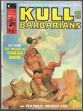 KULL AND THE BARBARIANS #2 MARVEL 05/75 THULSA DOOM + RED SONJA SOLOMON KANE VF