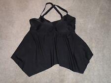 Shore Club Black Tankini Top Swimsuit Top Size 20