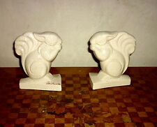 Serre-livres Art Déco céramique craquelée L. Fontinelle: Les écureuils ROBJ