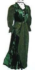 GREEN DIRNDL Dress Women German Austria Holiday Waitress Hostess Evening 8 S
