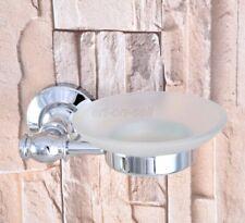 Polished Chrome Brass Wall Mounted Bathroom Soap Dish Storage Holder aba787