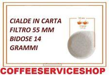 100 CIALDE IN CARTA FILTRO 55 MM BIDOSE 14 GRAMMI - 200 DOSI TOTALI -