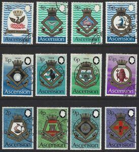 ASCENSION 1971/3 Royal Naval Crests 3 Sets + Miniature Sheet CTO