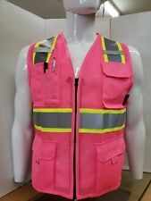 Two Tone High Visibility Pink Safety Vest Size Small 5xl