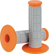 Moose Racing Qualifier Half Waffle MX Offroad Grips Gray/Orange (0630-1833)