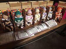 Lot of 7 Ashton Drake M&M Candy Baby Dolls, Original Boxes Coa Hang Tags