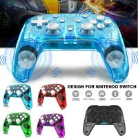 Wireless Controller Pro Rechargeable Clear Bluetooth Gamepad For Nintendo Switch