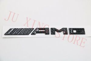 Carbon Fiber AMG Letters Trunk Emblem Badge Sticker for Mercedes Benz W212 W205