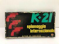 K-21 SPIONAGGIO INTERNAZIONALE Alma Giochi 1975 Gioco COMPLETO K21 K 21 società