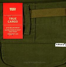 Levis Cargo Pants Mens Size 36 x 32 Color DARK OLIVE GREEN Relax Fit Levi's NWT
