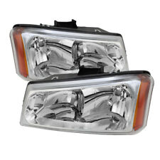 Chevy 03-06 Silverado / Avalanche Chrome Housing Crystal Replacement Headlights