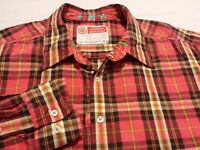 Robert Graham Mens XL Long Sleeve Button-Front Multicolor Plaid Check Shirt