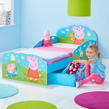 PEPPA PIG TODDLER BED WITH STORAGE BEDROOM JUNIOR CHILDRENS BY HELLOHOME