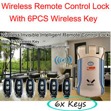 Wireless Invisible Smart Remote Control Lock+6 Key Keyless Entry Security 315MHz