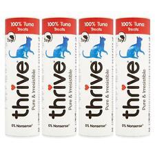 4 x thrive Cat 100% Tuna Treats Snacks Tube 25g - Real Natural Freeze Dried Fish