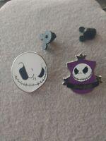 Hidden Mickey Series Crest Jack Skellington Disney Pin & Full Face pin lot of 2