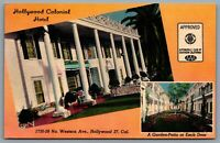 Postcard Hollywood CA c1948 Hollywood Colonial Hotel Now Coral Sands Motel