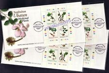 1998 Malaysia Medicinal Plants Special Collector Lot of 4 FDC (Melaka Cachet)
