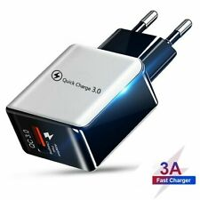 18W Quick Mobile Phone Charger 3.0 Fast EU US Plug Wall USB Adapter iphone X XR