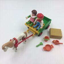 Playmobil pony ranch wagon farm set 3713 incomplete no box