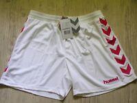 HUMMEL Femme AUTHENTIQUE Short Pantalon Court Sport SHORTS BLANC & ROUGE XXL 44