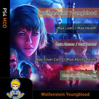 Wolfenstein Youngblood 4(PS4 Mod)-Max Lives/Health/Ammo/Coins/Points/Armor